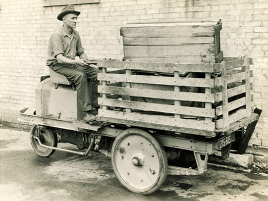První stroj